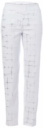 Slim Sation SLIM-SATION Women's Wide Band Pull-On Print Ankle Pant