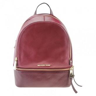 Michael Kors Rhea Red Leather Backpacks