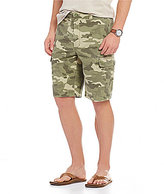 Roundtree & Yorke Casuals Big & Tall Washed Twill Camo Print Cargo Shorts