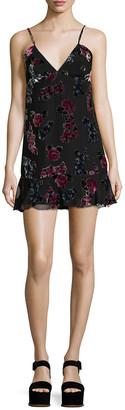 Anna Sui Rose Velvet Burn Out Tank Dress
