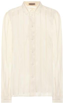 Bottega Veneta Striped silk-blend shirt