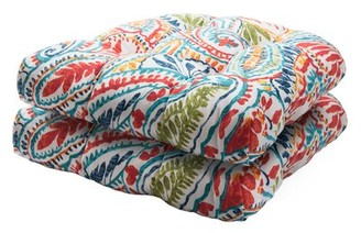 """Bungalow Rose Tufted All-Weather 19"""" x 19"""" Outdoor Seat Cushion"""
