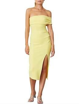 Bec & Bridge Bec + Bridge Lemon Yellow Midi Dress