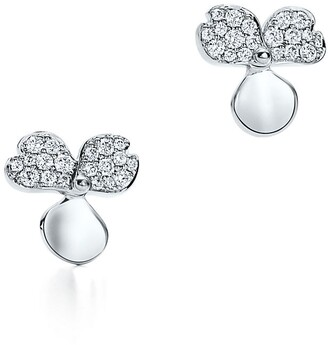 Tiffany & Co. Paper Flowers diamond flower earrings in platinum