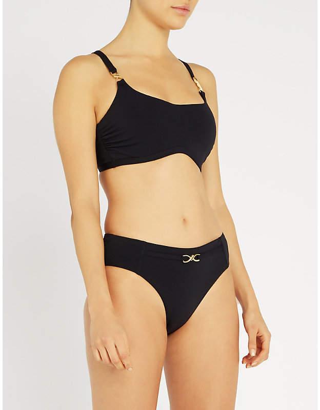 Jets Embellished underwired bikini top