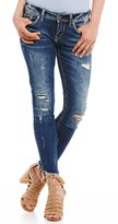 Silver Jeans Co. Suki Destructed Frayed Hem Stretch Denim Ankle Skinny Jeans