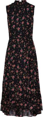 Rebecca Minkoff Harvey Crochet-trimmed Floral-print Chiffon Midi Dress