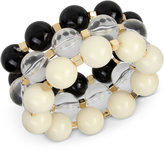 INC International Concepts IRIS X Gold-Tone 3-Pc Set Large Beaded Stretch Bracelets, Only at Macy's