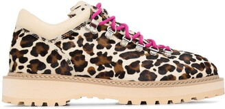 Diemme Monfumo leopard print hiking boots