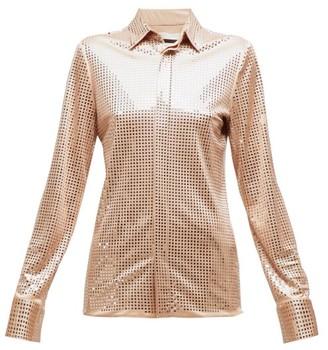 Bottega Veneta Mirrored Crepe Shirt - Nude