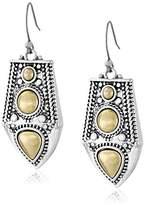 Lucky Brand Two Tone Dangle Drop Earrings