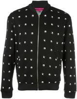 McQ by Alexander McQueen dove pattern bomber jacket