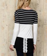 Celeste Black Stripe Tunic