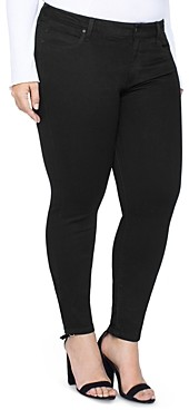 Liverpool Los Angeles Plus Liverpool Plus Abby Skinny Jeans in Black Rinse