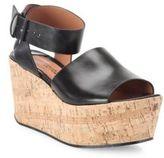 Derek Lam 10 Crosby Faye Leather Cork Platform Sandals