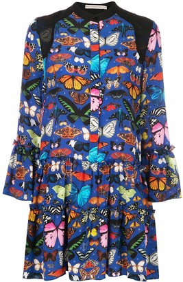 Mary Katrantzou Shalini butterfly print dress