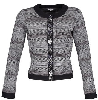 Manoush BIJOU VESTE women's Jacket in Grey