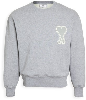 Ami Big Heart Logo Crew Neck Sweatshirt