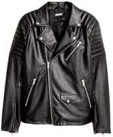 H&M Biker Jacket - Black - Men