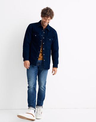Madewell Quilted Indigo Shirt-Jacket