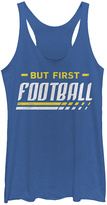 Fifth Sun Royal Blue Heather 'But First Football' Racerback Tank