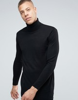 Weekday Connor Roll Neck Sweater Merino Knit