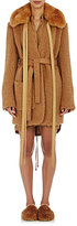Helmut Lang Women's Faux-Fur-Collar Shaggy Coat-BEIGE