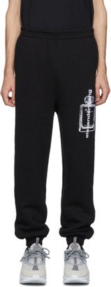 Alexander Wang Black Graphic Lounge Pants