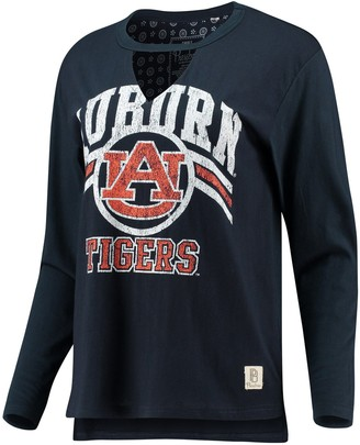 Women's Pressbox Navy Auburn Tigers Scout Choker Long Sleeve T-Shirt