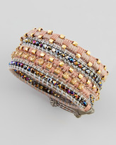 Nakamol Two-Tone Multi-Bead Wrap Bracelet, Gold/Gray (Stylist Pick!)