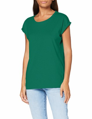 Build Your Brand Women's Ladies Extended Shoulder Tee T-Shirt