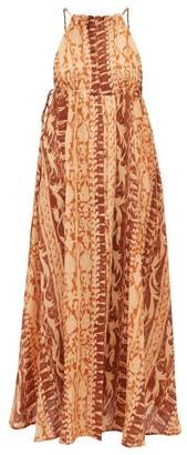 Cult Gaia Agatha Soleil-print Silk Dress - Womens - Brown