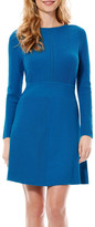 Laundry by Shelli Segal Fit & Flare Sweater Dress