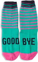 LittleMissMatched Pink & Teal 'Goodbye' Socks