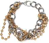 Balenciaga Layered Silver And Gold-tone Necklace - one size