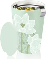 Tea Forte Kati Lotus Ceramic Tumbler with Stainless Steel Infusing Basket