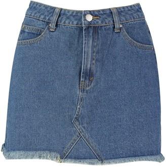 boohoo High Waisted Micro Denim Mini Skirt