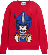 Moschino Intarsia Wool Sweater - Red