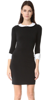 Alice + Olivia Vesta 3/4 Sleeve Collared Dress