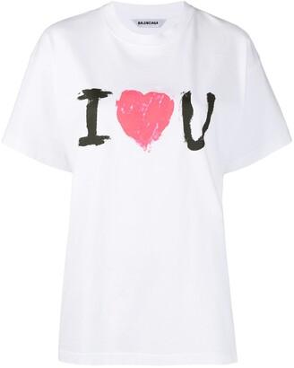 Balenciaga I Love You print T-shirt