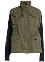 Sacai Ribbed Drawstring Cargo Jacket
