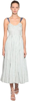 Luisa Beccaria Striped Silk Dress