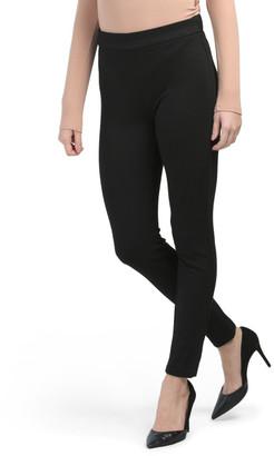 Elastic Waist Slim Leg Pants