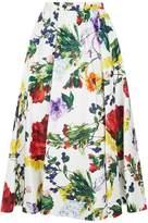 Alice + Olivia Earla Floral Midi Skirt