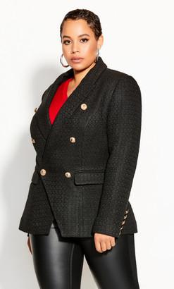 City Chic Royale Jacket - black