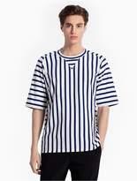 CK Calvin Klein Striped Raglan Cotton Knit T-Shirt