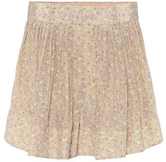 Chloé Floral high-rise silk shorts
