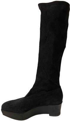 Clergerie Black Suede Boots