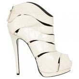 Giuseppe Zanotti White Leather Ankle boots