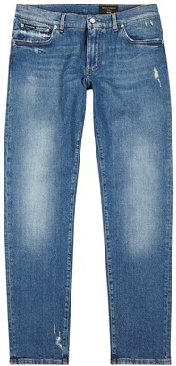 Dolce & Gabbana Light blue slim-leg jeans